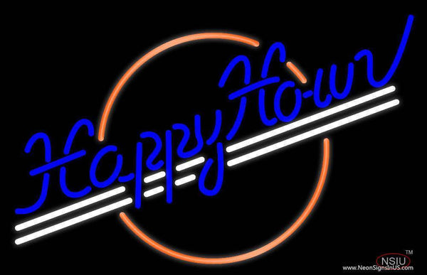 Happy Hour Real Neon Glass Tube Neon Sign