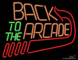Back To The Arcade Real Neon Glass Tube Neon Sign