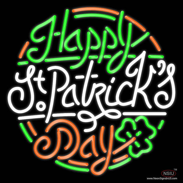 Happy St Patrick Day Real Neon Glass Tube Neon Sign