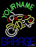 Custom Garage With Bike Logo Real Neon Glass Tube Neon Sign