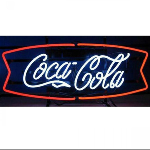 Coca Cola Red And White Fishtail Neon Sign