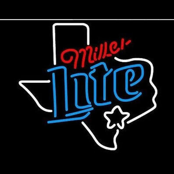 New Miller Lite Texas Dallas Handmade Art Neon Sign