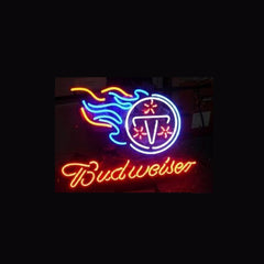 Nfl Tennessee Titans Football Budweiser Neon Sign
