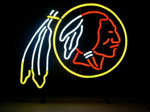 Nfl Washington Redskins Real Neon Light Beer Sign