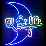 Novelty Neon Blue Moon Bar Sign