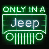 Professional  Only In A Jeep Beer Bar Open Neon Signs