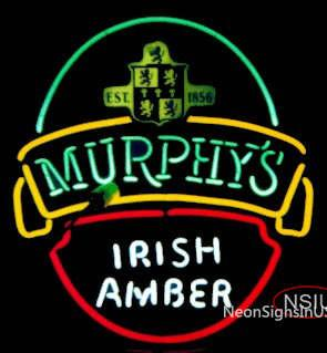 Murphy's Irish Amber Neon Beer Sign