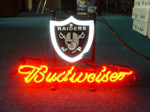 Oakland Raiders Footballneon Sign