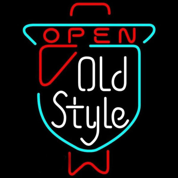Old Style OPEN Beer Sign Handmade Art Neon Sign