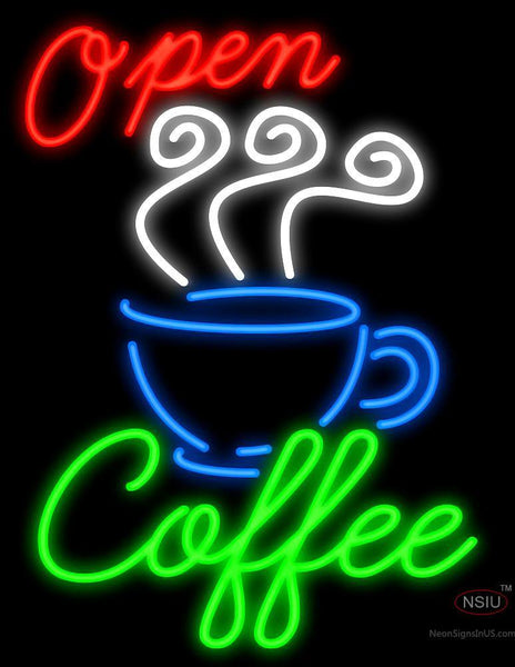 Open Coffee Neon Sign