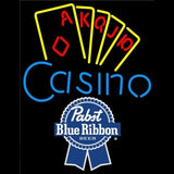 Pabst Blue Ribbon Poker Casino Ace Series Beer Sign Handmade Art Neon Sign