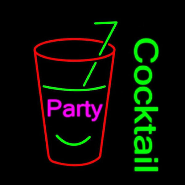 Party Cock Tail Handmade Art Neon Sign
