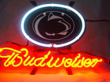 Penn State Nittany Budweiser Beer Neon Light Sign