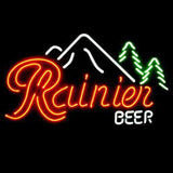 Professional  Rainier Beer Bar Open Neon Signs