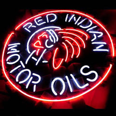 Professional  Red Indian Motor Oils Beer Bar Neon Sign