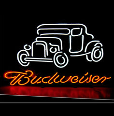 Budweiser Vintage Car Handcrafted Neon Sign
