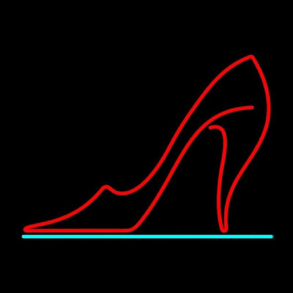 Red High Heel Handmade Art Neon Sign