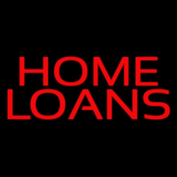 Red Home Loans Handmade Art Neon Sign