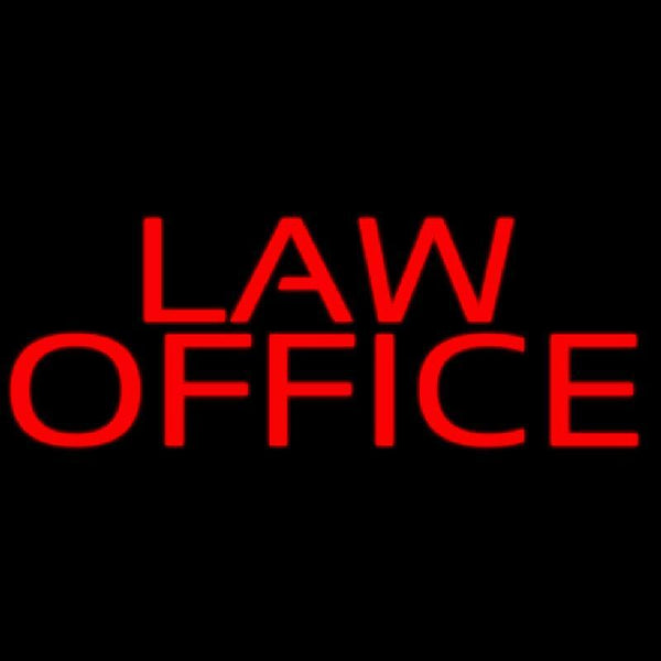 Red Law Office Handmade Art Neon Sign