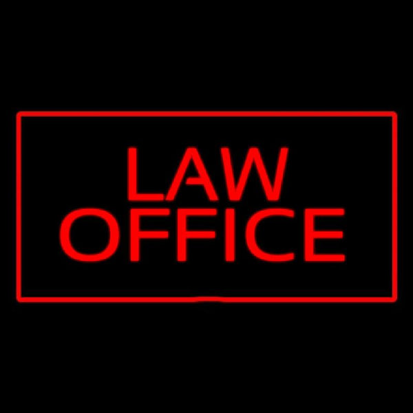 Red Law Office Red Border Handmade Art Neon Sign