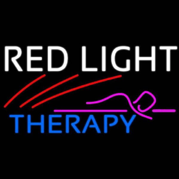 Red Light Therapy Handmade Art Neon Sign