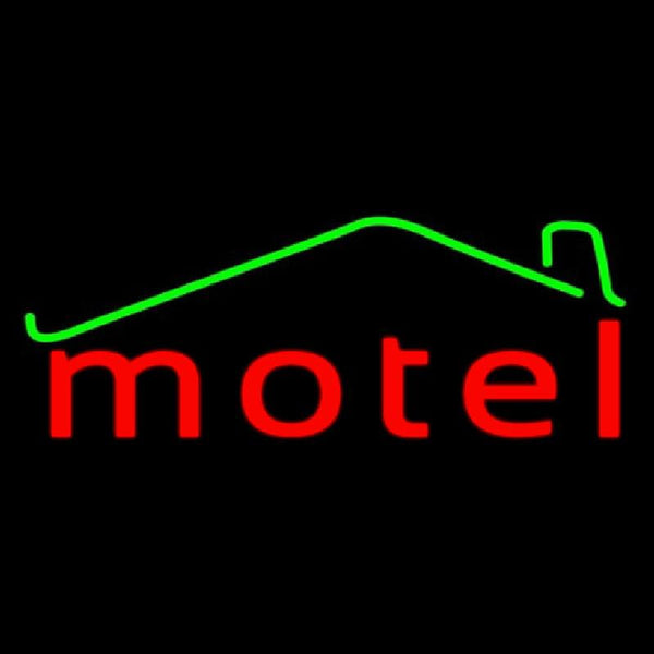 Red Motel With Symbol Handmade Art Neon Sign