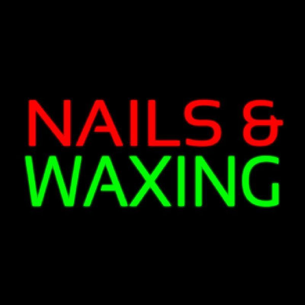 Red Nails And Green Waxing Handmade Art Neon Sign
