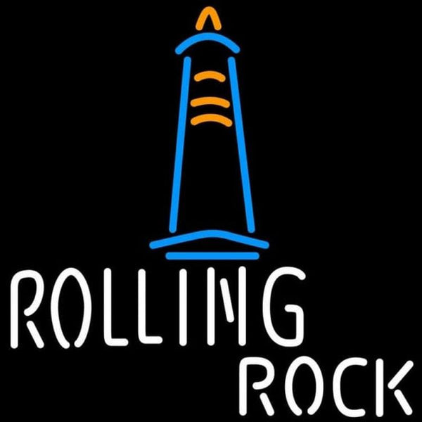 Rolling Rock Lighthouse Beer Sign Handmade Art Neon Sign