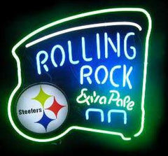 Rolling Rock Steelers Neon Sign