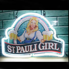Professional  St Pauli Girl Beer Bar Open Neon Signs