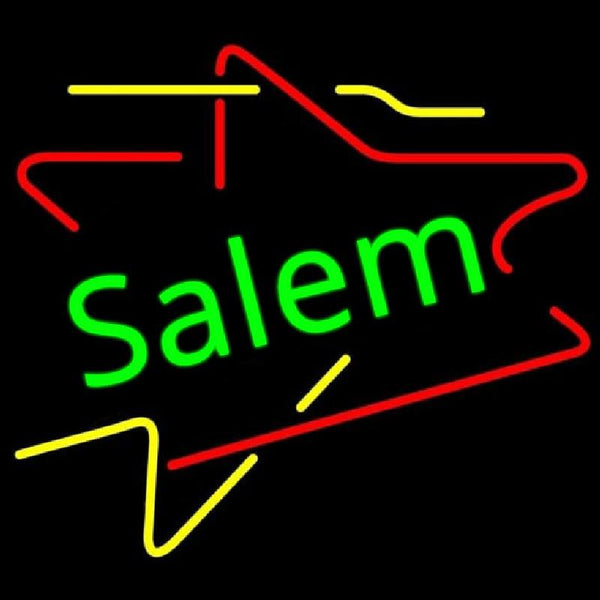 Salem Triangles Handmade Art Neon Sign