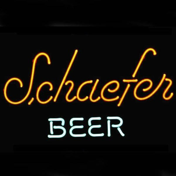 Schaefer Beer Logo Pub Display Handmade Art Neon Sign