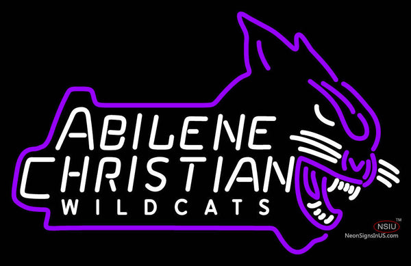 Abilene Christian Wildcats Alternate  Pres Logo NCAA Neon Sign
