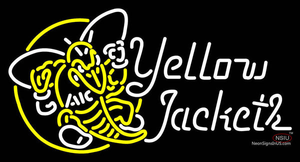 Aic Yellow Jackets Alternate  Pres Logo NCAA Neon Sign