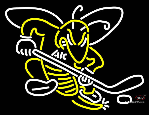 Aic Yellow Jackets Alternate  Pres Logo NCAA Neon Sign 7