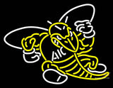 Aic Yellow Jackets Primary  Pres Logo NCAA Neon Sign