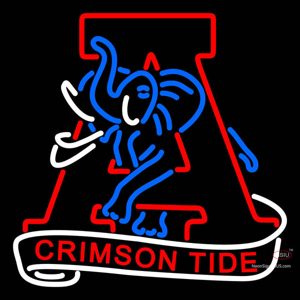 Alabama Crimson Tide Primary 7  Logo NCAA Neon Sign