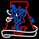 Alabama Crimson Tide Secondary 7  Logo NCAA Neon Sign x