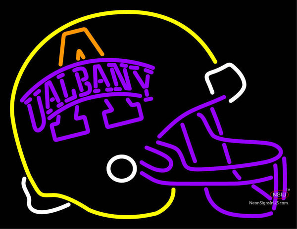 Albany Great Danes Helmet  Pres Logo NCAA Neon Sign