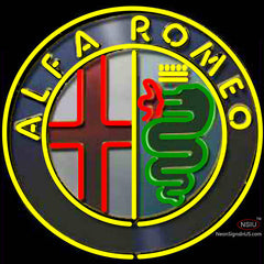Alfa Romeo Neon Sign Spider Montreal Neon Sign