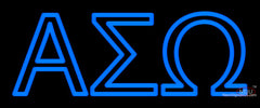 Alpha Sigma Omega Latina Greek Neon Sign