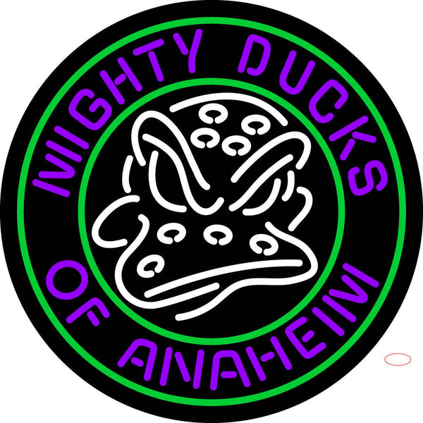 Anaheim Ducks Alternate     Logo  NHL Neon Sign