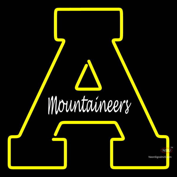 Appalachian State Mountaineers Primary 7  Logo NCAA Neon Sign