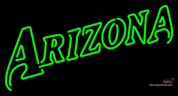 Arizona Diamondbacks Wordmark   Logo MLB Neon Sign