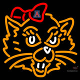 Arizona Wildcats Mascot  Pres Logo NCAA Neon Sign  x