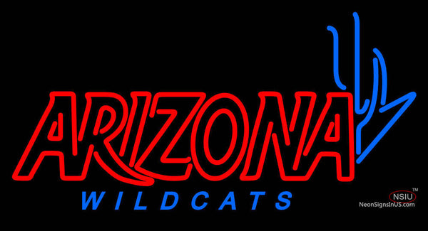 Arizona Wildcats Wordmark  Pres Logo NCAA Neon Sign