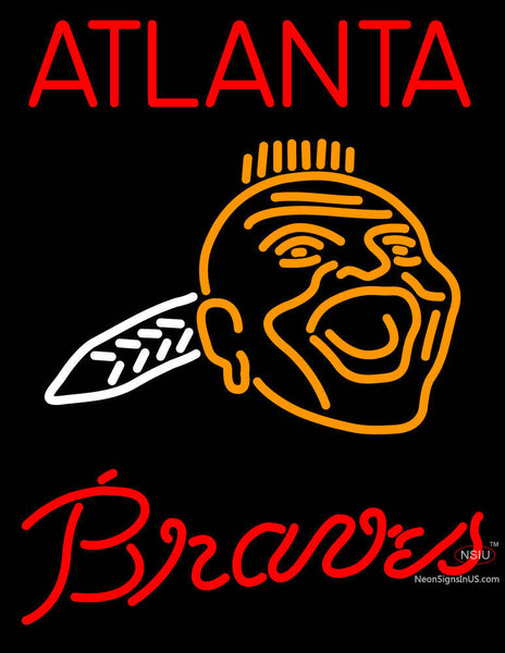 Atlanta Braves Primary 7 7 Logo MLB Neon Sign