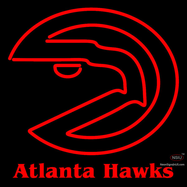 Atlanta Hawks Primary 7 7   Logo NBA Neon Sign