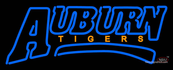 Auburn Tigers Wordmark   Logo NCAA Neon Sign