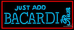 Bacardi Just Add Neon Rum Sign
